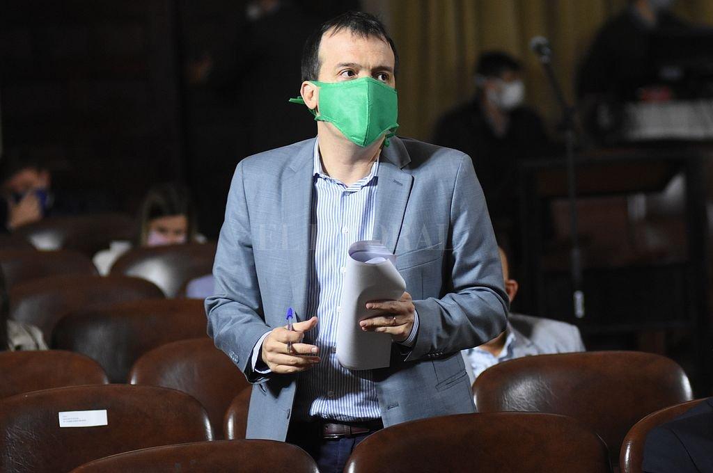Joaquín Blanco, jefe de la bancada socialista y enfático defensor de una ley de góndolas. Crédito: Mauricio Garín