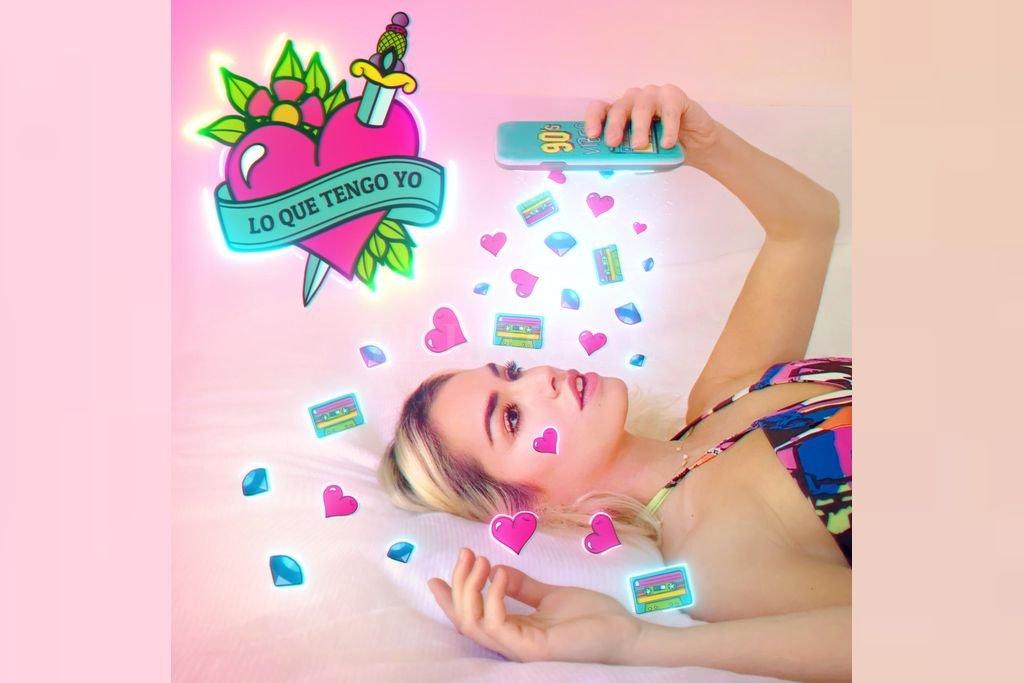 La portada del single, con la estética que identifica al clip dirigido por Guido Adler, Lautaro Espósito y la propia cantante. Crédito: Gentileza Sony Music