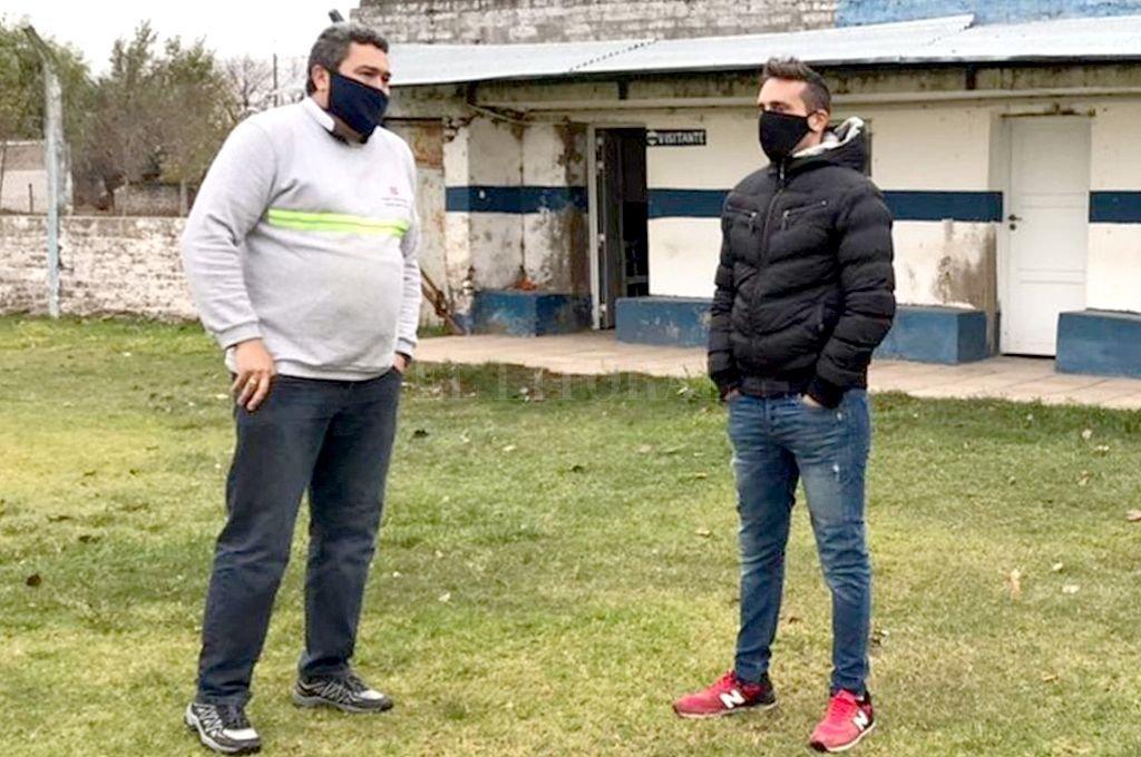 Dirigentes de la Liga Santafesina realizan recorridas por los clubes y esta semana fue el turno de Atenas.  Crédito: Gentileza Prensa Liga Santafesina