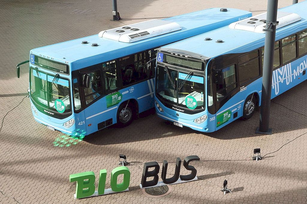 ¿Y el B100? Los ómnibus de Rosario usan biodiésel al 100% desde 2018. Las empresas santafesinas producen el 80% del total nacional. Sus ventas se derrumbaron. Crédito: Archivo