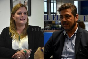 Discapacidad: piden a Iapos que regularice pagos a prestadores - Ediles. Luciana Ceresola y Sebastián Mastropaolo (Pro-Juntos por el Cambio). -