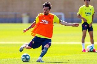 Messi y otros 13 jugadores del Barcelona se entrenaron este lunes