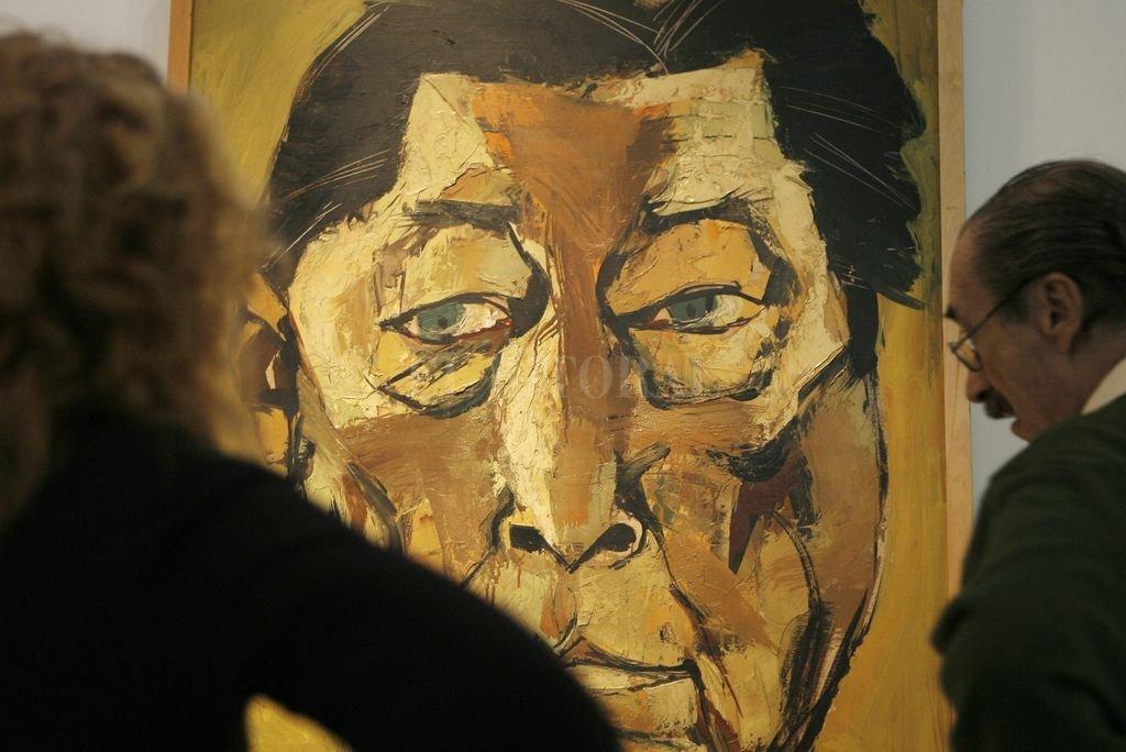 Un retrato de Atahualpa Yupanqui del artista ecuatoriano Oswaldo Guayasamín.  Crédito: Archivo El Litoral / EFE