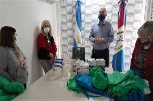 Calvo entregó insumos para el personal de salud del departamento Castellanos