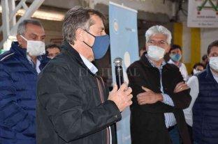 Baucero acompañó al ministro Capitani en el operativo de entrega de la tarjeta AlimentAR