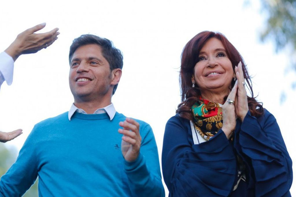 Cristina Kirchner y Axel Kicillof, procesados en la causa dólar futuro. Crédito: Archivo