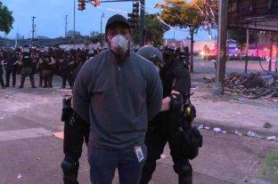 Detienen a periodistas que cubrían en vivo los disturbios ocasionados en Minneapolis por la muerte de George Floyd