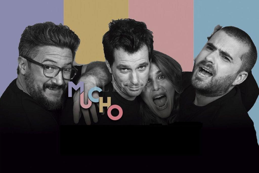 El espectáculo de stand up protagonizado por Pablo Fábregas, Diego Scott, Malena Guinzburg y Fernando Sanjiao llegará a través de la plataforma Teatrix. Crédito: Gentileza producción