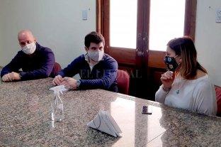 Orciani colaboró con el gobierno de Venado Tuerto para la compra de un tótem sanitizador