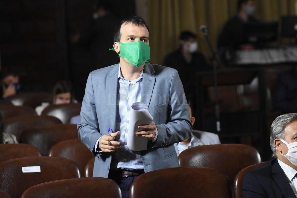 lanco cumple su segundo mandato como diputado provincial y ahora ejerce la presidencia de la bancada socialista. Crédito: Mauricio Garín