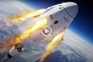 En vivo: El aclope de la nave Crew Dragon con la Estación Espacial Internacional