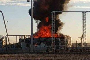Explotó un tanque petrolero en un yacimiento de La Pampa