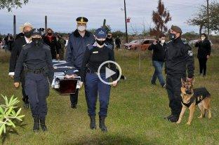 """Falleció """"Cartucho"""", el perro sargento de la División de Canes de Corrientes"""