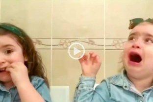 Viral: la tremenda reacción de una nena porque su melliza se comió un chocolate -  -