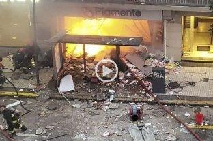 Video: así fue la explosión en la que murieron dos bomberos