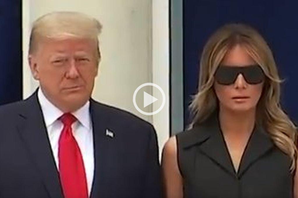El incómodo gesto de Melania Trump que le da la vuelta al mundo -  -