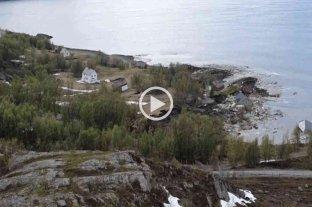Vídeo: un espectacular desplazamiento de tierra destruyó ocho casas en las costas de Noruega