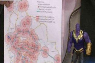 Bolivia: un ministro explicó el coronavirus con muñecos de Marvel