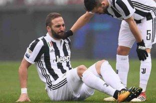 """La lesión de Higuaín """"no es grave"""", confirmó la Juventus en un comunicado"""
