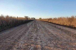 Matilde: acondicionan caminos rurales en la zona sur