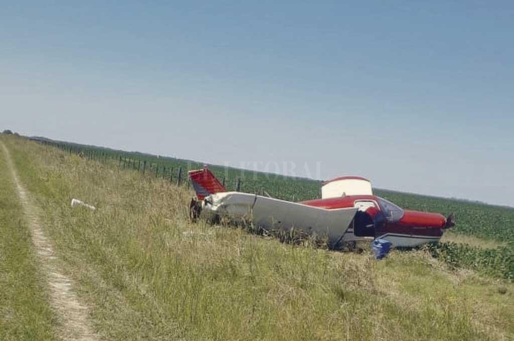 La investigación comenzó cuando una avioneta que partió de Paraguay terminó estrellada contra un alambrado, en un camino rural cerca de Naré, en el departamento San Justo. Crédito: Archivo El Litoral