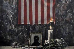 Banksy homenajeó a George Floyd con una pintura y un texto