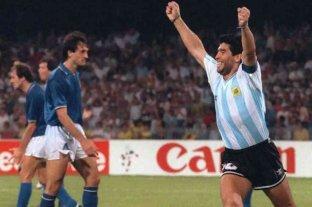 Con un emotivo mensaje, Maradona recordó el Mundial de Italia '90