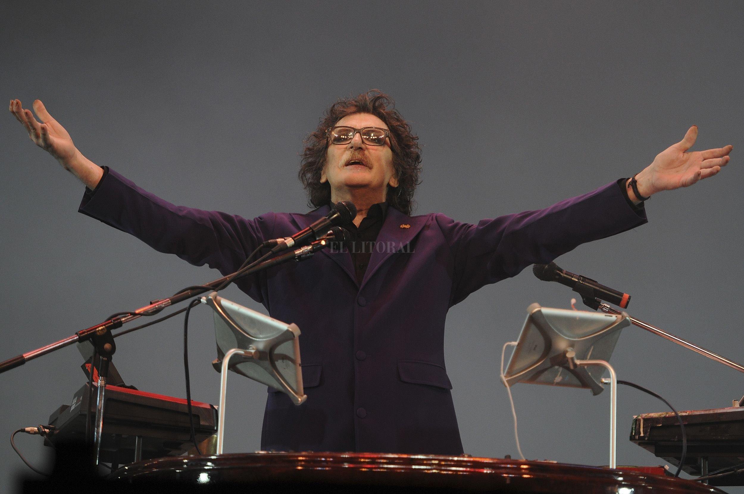 Charly García en el año 2013 en el Teatro Colón Crédito: Archivo El Litoral