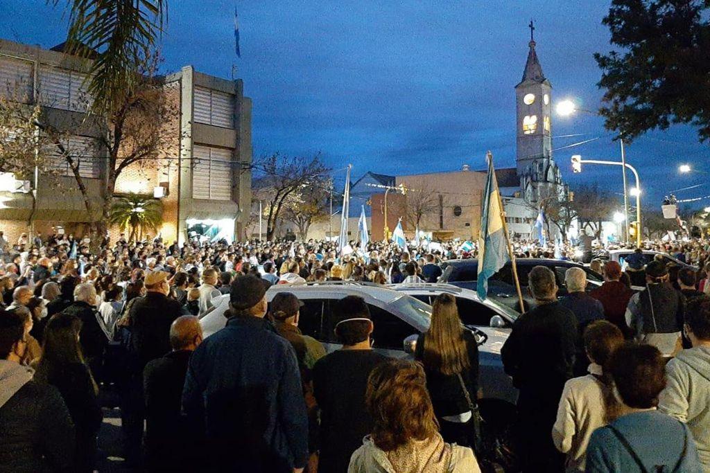 Protesta en Avellaneda. Crédito: Télam.
