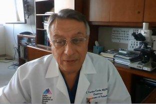 Lehmann encabezó la reunión informativa que brindó el doctor Cordón Cardo desde Nueva York