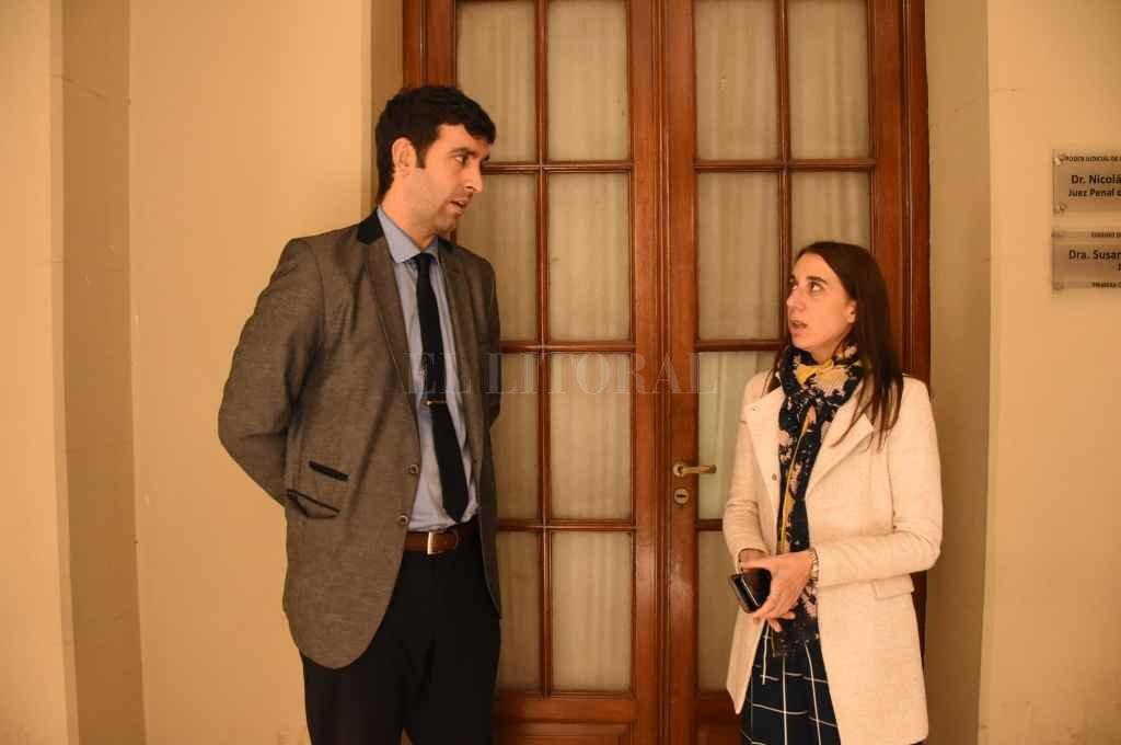 Los fiscales Cristina Ferraro y Martín Torres, representantes del Ministerio Público de la Acusación.    Crédito: Mauricio Garín