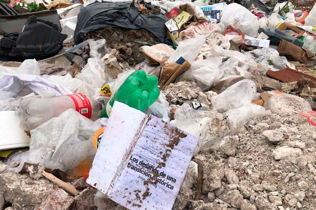 Montones. Al circular por Gral. Paz la basura aparece a la vera, contra el bañado. Crédito: Gentileza