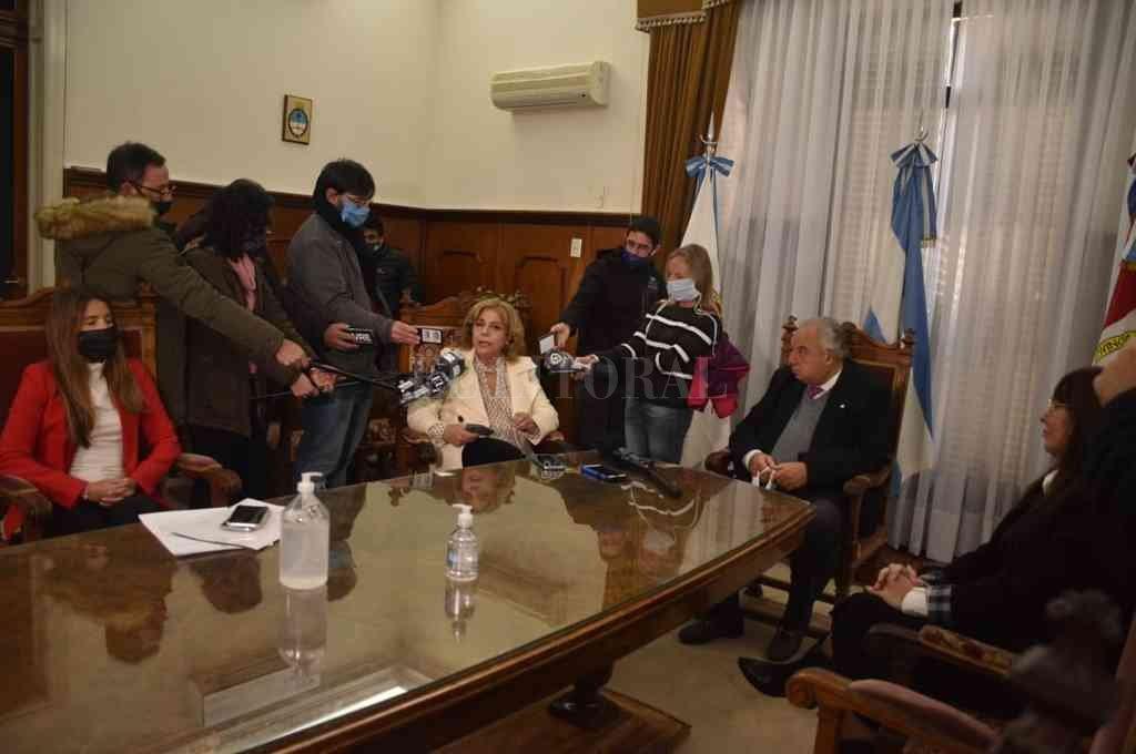 Gutiérrez recibió a Martorano este lunes en la Corte. Crédito: Guillermo Di Salvatore