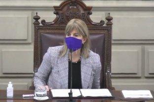 Senado en tono violeta