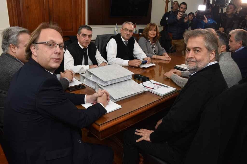Perotti y Lifschitz designaron miembros de una comisión de transición que no obtuvo los resultados esperados el año pasado.   Crédito: Guillermo Di Salvatore