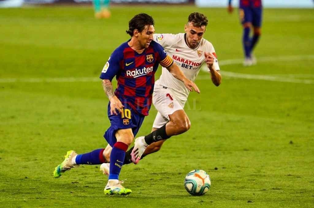Debe mejorar. Después del decepcionante empate ante Sevilla, Messi sabe que tiene que levantar su nivel para que Barcelona tenga mayores chances de ganar la liga.    Crédito: Archivo