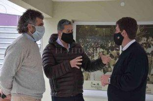 Caussi visitó San Jerónimo del Sauce y habló sobre obras de electrificación del Área Industrial