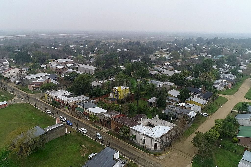 Vista aérea de Santa Rosa de Calchines.  Crédito: Fernando Nicola
