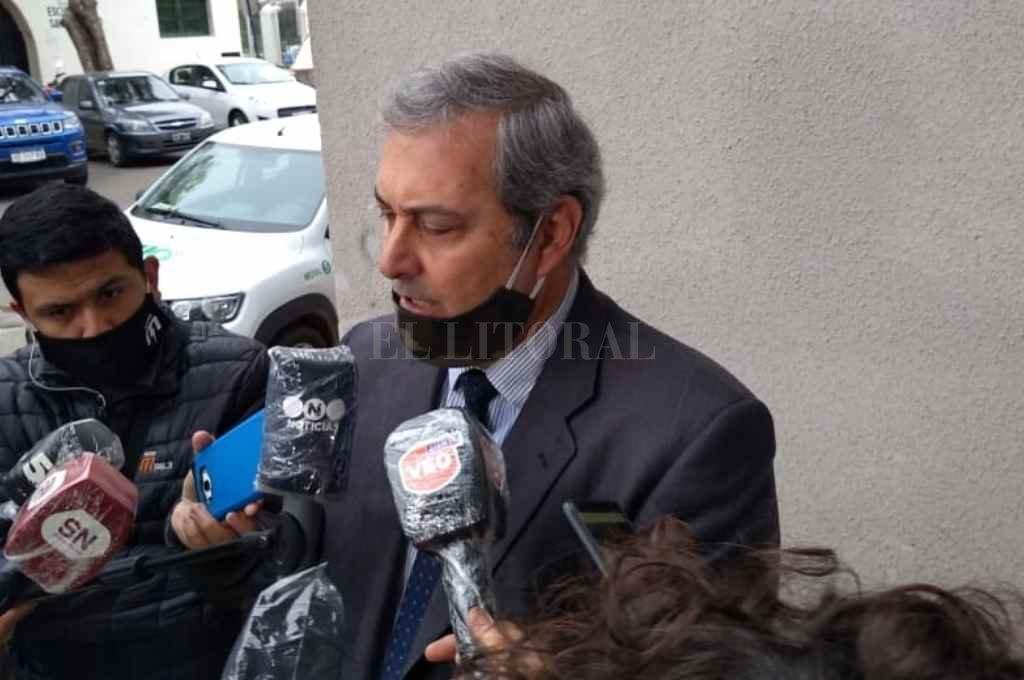 Walter Gálvez anunció la próxima licitación de obras penitenciarias en La Capital para aliviar la situación de comisarías.    Crédito: El Litoral