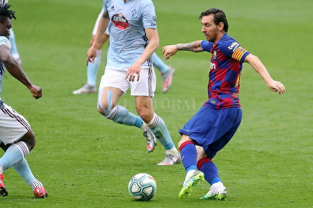 Messi no marcó y deberá seguir esperando para llegar al gol 700 con el conjunto blaugrana. Crédito: NA