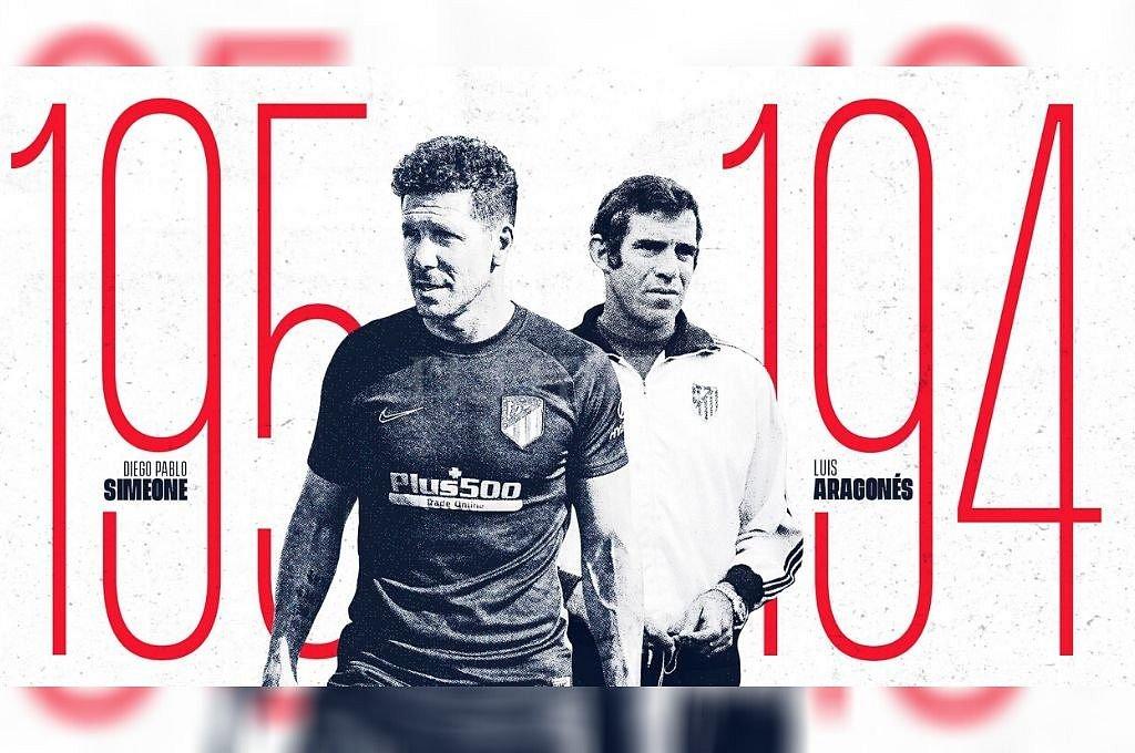 Simeone, el DT con más triunfos en el Atlético de Madrid