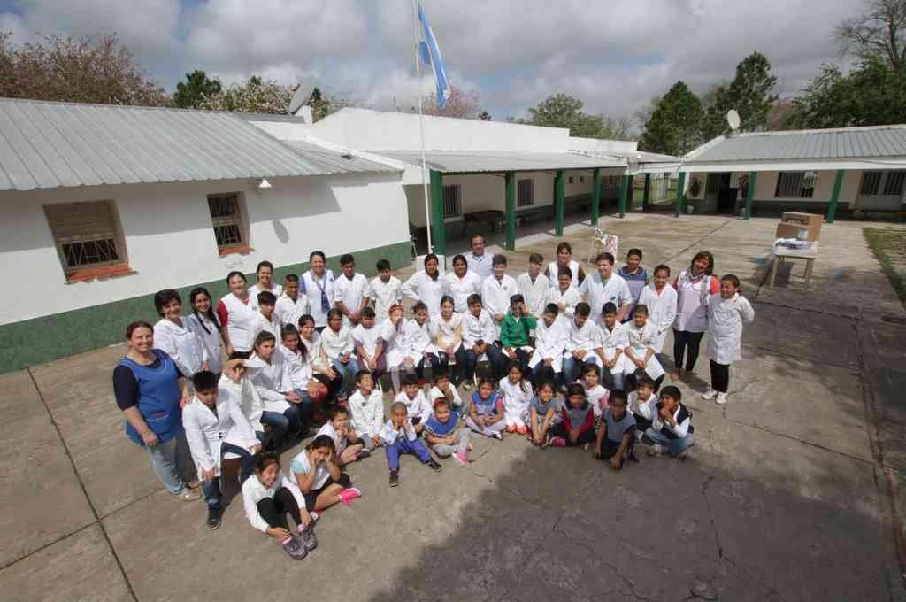 Escuela primaria 6088 Salvador Caputto de El Sombrerito departamento General Obligado. Crédito: Archivo El Litoral