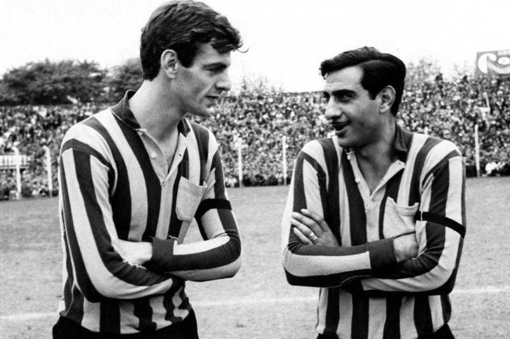 Menotti, junto al 'Gitano' Juárez en Rosario Central Crédito: Archivo El Litoral