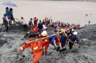 Al menos 113 muertos tras un accidente en una mina de Birmania