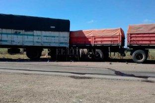 Triple choque de camiones en la Ruta 34, en el ingreso sur a Rafaela -