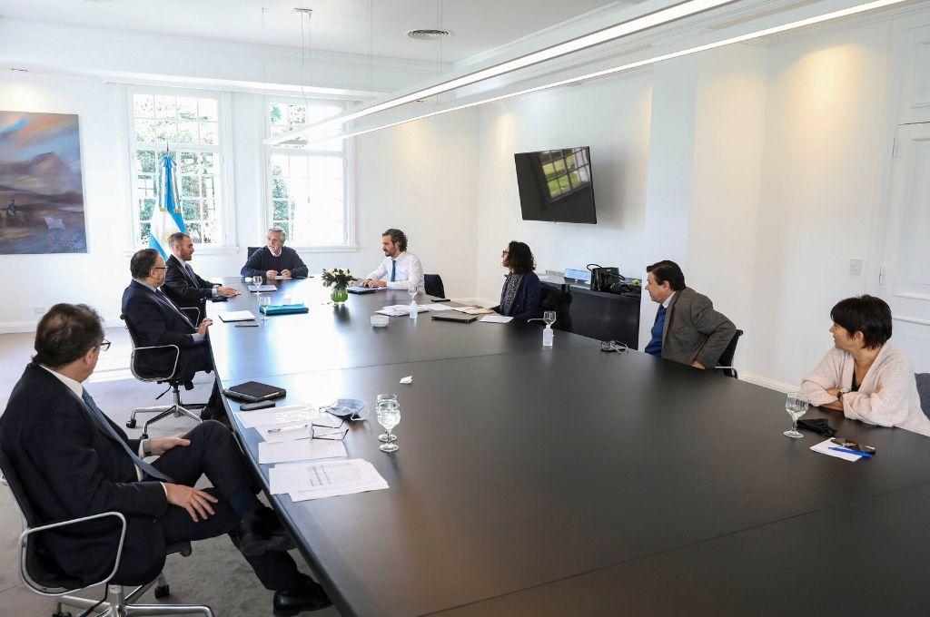 El presidente se reunió en Olivos con el gabinete económico Crédito: Gentileza