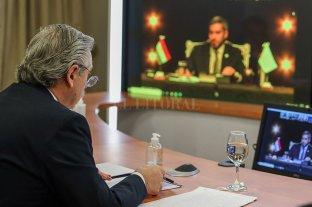 """El Presidente, Duhalde y De Mendiguren analizaron """"cómo hacer un relanzamiento fuerte"""" de la producción"""