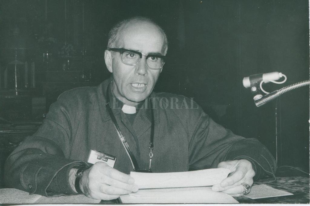 Monseñor Vicente Zazpe en agosto de 1970 Crédito: Archivo El Litoral