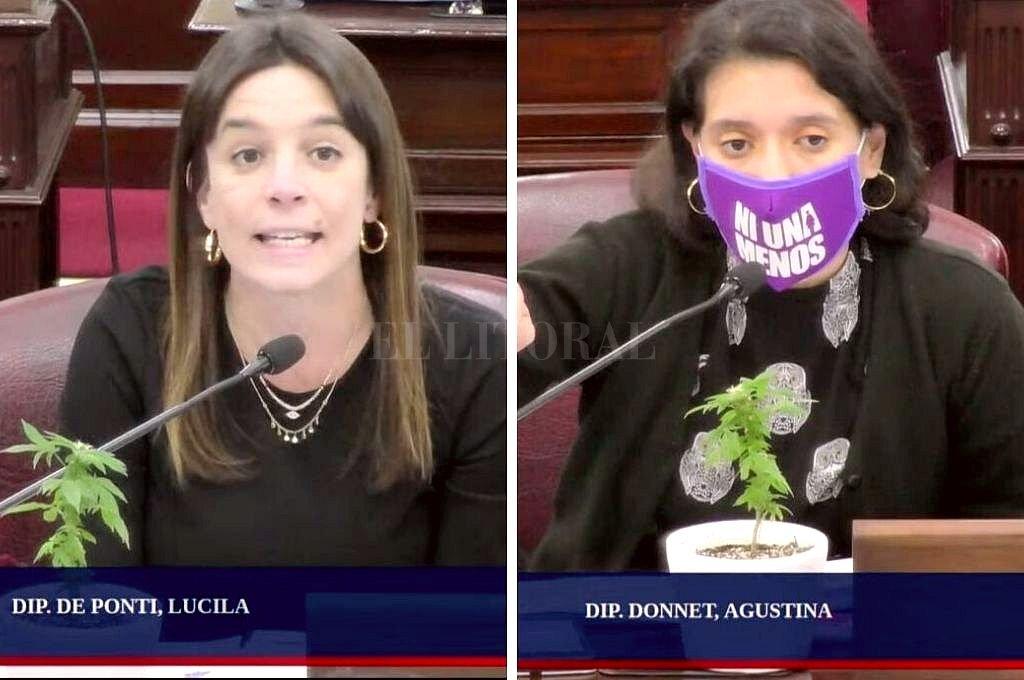 Lucila De Ponti y Agustina Donnet. Crédito: Captura digital