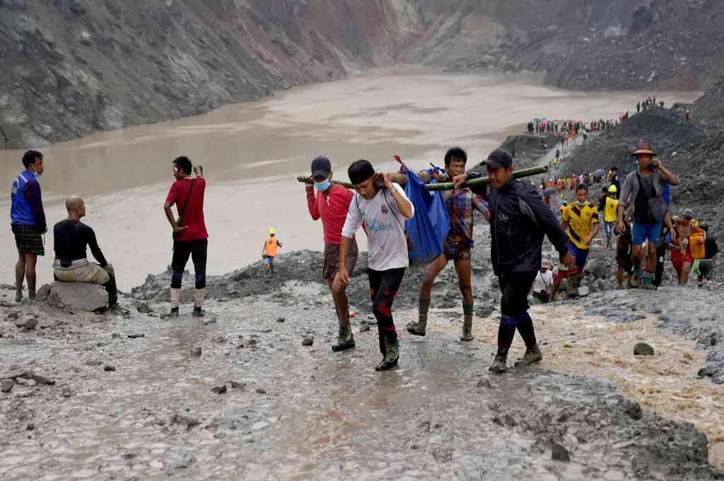 Derrumbe en una mina de Birmania dejó al menos 162 trabajadores muertos. Crédito: EFE